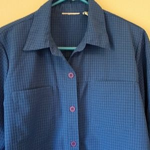 Draper's & Damon's Blue Tab Sleeve Top L
